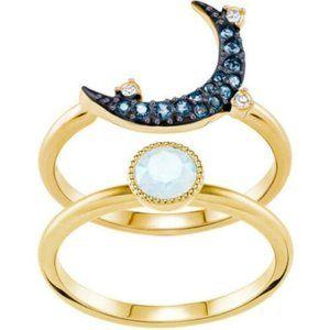 Swarovski Duo Moon Ring Size 52